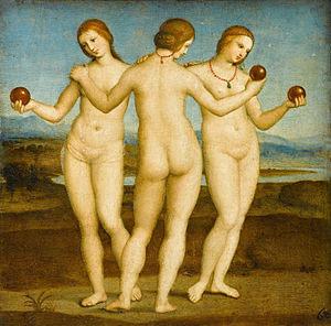 """Rafael, """"Las Tres Gracias,"""" 1504–1505 y Photoshop"""